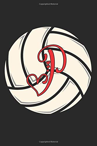 P: Volleyball Journal Monogram Initial P Personalized Volleyball Gift for Players Coach Students Teachers (Volleyball Lovers)