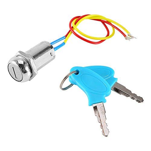 Qiilu 2 Draht Schlüssel Zündschloss Verriegelung Schlüssel Für Elektroroller ATV Moped Kart
