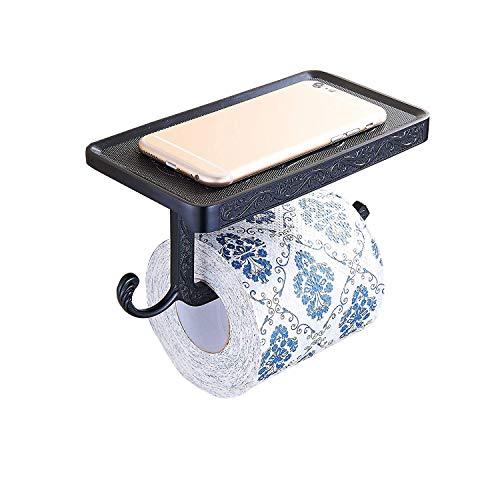 YONGE Bad Zubehör YJY^MAX Antike Wand montiert Badezimmer Tissue Halter/Wand-Toilettenpapierhalter/WC Papier Halter Tissue Rolle Bar mit Mobiltelefonen Ständer 183 * 100 * 80 mm -