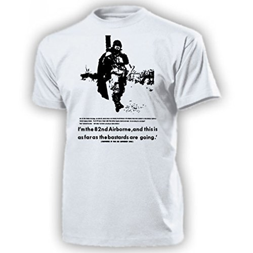 82nd Airborne Division Operation Neptune Normandy US-Luftlandedivision All American WK Normandie 1944 US Army Fallschirmjäger Abzeichen - T Shirt Herren XL #15647 (82nd T-shirt Airborne)