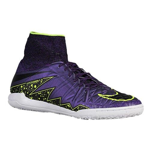 Nike Herren Hypervenomx Proximo IC Fußballschuhe, Lila Gelb (Hyper Grape/Schwarz-Crt Prpl-VLT), 45 EU (Lila Und Gelb Nike Schuhe)