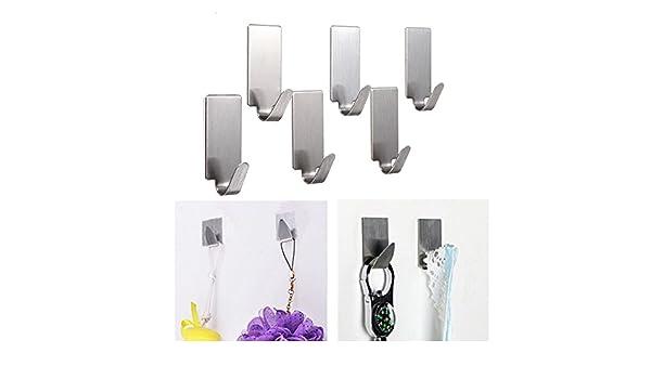 [ Kostenlose Lieferung   7 12 Tage] 6pcs Edelstahl Adhesive  Kleiderbügelhaken Wandtürhaken Badezimmer Handtuchhalter BML® // 6Pcs  Stainless Steel Adhesive ...