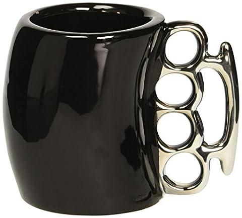 Fairly ODD Novelties Schlagring Kaffeebecher aus Keramik, schwarz (Treasures Keramik-becher)