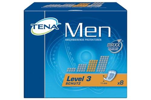 Tena Men Level 3, Einlagen für Männer mit mittlerer Blasenschwäche / Inkontinenz, 6er Pack (6 x 8 Stück)