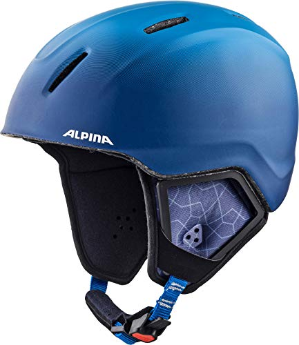 Alpina Kinder Carat XT Skihelm, Blue-Gradient Matt, 48-52 cm