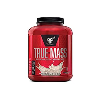 BSN True Mass Weight Gainer Whey Protein Powder with BCAA's and glutamine. Mass Gainer by BSN -  Cookies & Cream, 16 Servings, 2.6kg