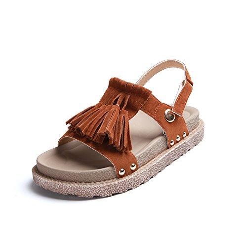 épaisse fashion Lady Sandals/Glands à la fin de l'école d'été du vent sandales/Une semelle souple de chaussures B