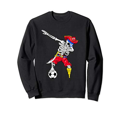 Fußball Kleinkind Kostüm - Abtupfen Skeleton Piraten-Fußball Futbol Halloween Jungen Sweatshirt