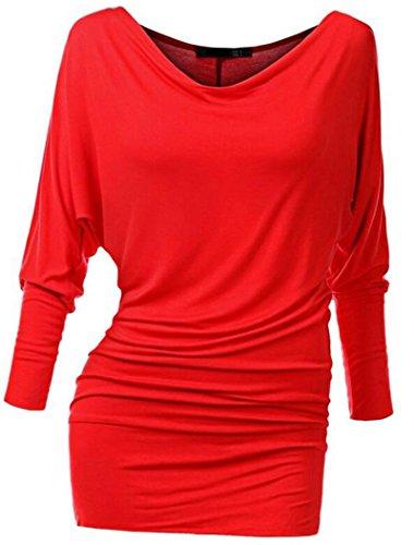 Tunica Camicetta Camicia Tops Shirt da donna a maniche lunghe