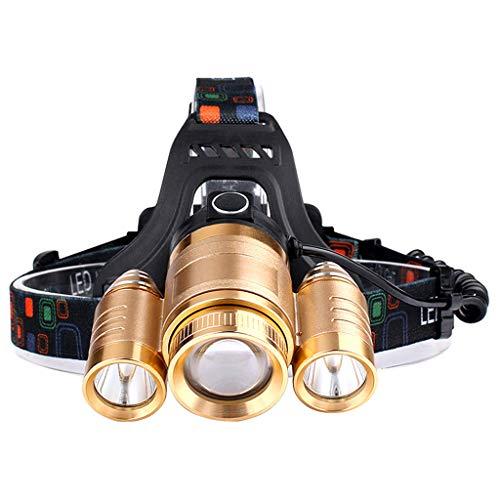 DUOER-lampe frontales Phare imperméable Rechargeable Ultra-Lumineux de pêche de Nuit monté sur tête Ultra Rechargeable de LED pour la Marche, campant