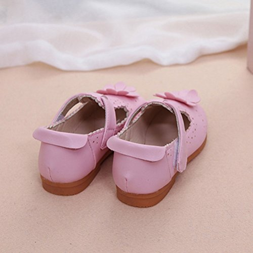 Zhhlinyuan Fashion Soft PU Leather Baby shoes Baby Flower Shoes Toddler Casual Shoes Pink