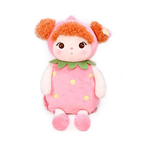 Atmny Cartoon Schultaschen Kinder Puppe Plüschtier Schulranzen Kinder Umhängetasche Für Kindergarten Mädchen Rucksack MeToo Puppe 49 * 25 cm (Stofftier Jungen Valentine)