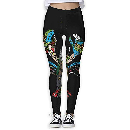 Deglogse Yogahosen, Trainingsgamaschen,Maine Lobster Women's Full-Length Sports Running Yoga Workout Leggings Pants Stretchable (Am Lieferung Nächsten Halloween-outfits Tag)
