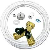 AS4-10m Wasserzulaufleitung Anschluss Set für Kühlschrank SBS und Spülmaschine oder Waschmaschine 10m Wasserschlauch 1/4