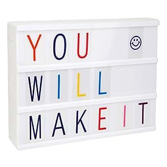 LitEnergy Cinematic LED Message Box mit White Shell und 90 mehrfarbigen Buchstaben
