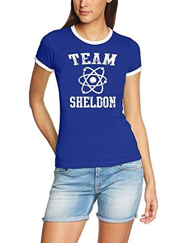 Coole-Fun-T-Shirts T-Shirt Team Sheldon - Big Bang Theory ! Vintage Rigi, blau, S, 10746_blau_RIGI_GR.S (Bang Big Frauen Theory T-shirt The)