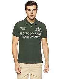 US Polo Men's Checkered Regular Fit T-Shirt