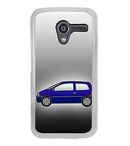 Fiobs Designer Back Case Cover for Motorola Moto X :: Motorola Moto X (1st Gen) XT1052 XT1058 XT1053 XT1056 XT1060 XT1055 (Car Gadi 4 Wheels Four)