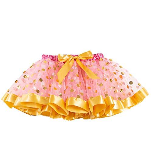 MakefortuneMädchen Multicolor Tutu Rock Kostüm Layered Dance Performance Rock für Mädchen 2-11 Jahre -