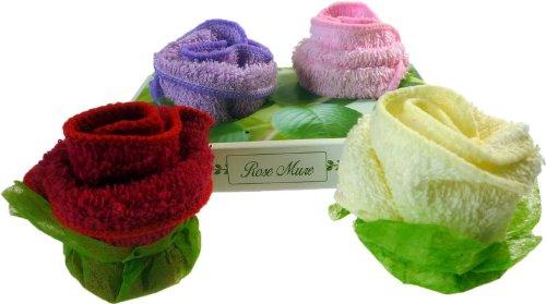 Twin Roses asciugamano Confezione Regalo. Dimensioni: h: 7, W: 15,2, D: 10cm; dimensioni del telo: 20x 20cm x 2. Un regalo perfetto-ideale per compleanni, Natale......