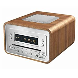 Sonoro Cubo. CD & DAB Tuner with integral Speaker - Walnut finish.