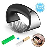 Sweethos Garlic Press Ginger Rocker New 2019, Stainless Steel Crusher Squeezer with Comfortable