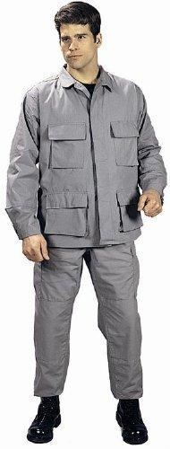 Rothco Military BDU Pants, Army Cargo Fatigues - Grey Bdu Sky Blue Camo
