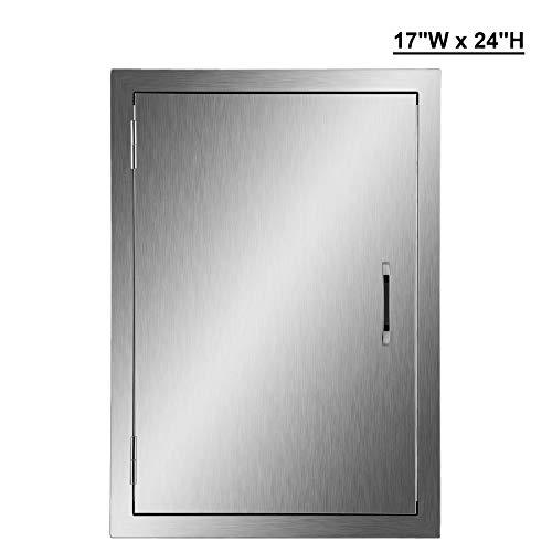 CO-Z 304Edelstahl gebürstet BBQ Tür, SS Single Zugang Türen für Outdoor Küche, gewerblichen BBQ Insel, Grillen Station, Außerhalb Schrank, Grill Grill, integrierte