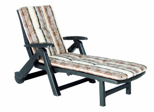 Best Charleston 96401711 Sun Lounger on Wheels