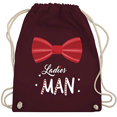 Valentinstag - Ladies man - Unisize - Bordeauxrot - WM110 - Turnbeutel & Gym Bag