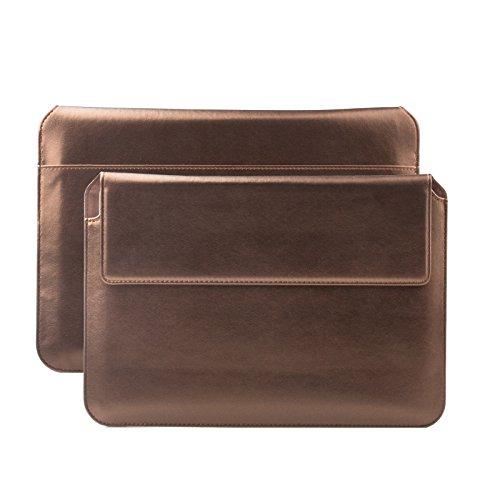 iCues Apple iPad Mini 4 Case | Samsung Galaxy Tab S2 8.0 Tasche | 6.9 bis 8.0 Zoll Tablets Piquante Etui Puppy Braun Metallic | Sleeve Hülle Schutzhülle Case Notebook Tablet Leder Cover Schutz