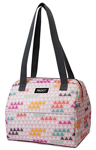 PackIt Mini Kühltasche Hampton, Mehrfarbig (Paper Triangles), 5.7 -