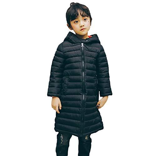 Kobay Kinder Mädchen Jungen Winter Warm Reißverschluss Dicker Hoodie Mäntel Jacke Oberbekleidung(2-3T,Schwarz) (Mäntel Wetterfest Kinder Winter)