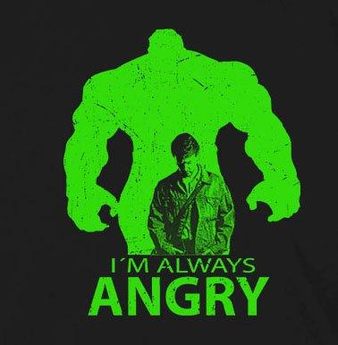 I'm always Angry - Herren T-Shirt Grau