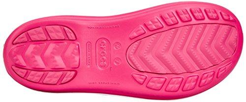 Crocs Crocband Jaunt Women, Bottes de Pluie fourrées femme Rouge (Raspberry)