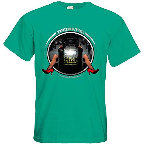 getshirts - Tobinator Official Merchandise - T-Shirt - Schildftze Pacific Green