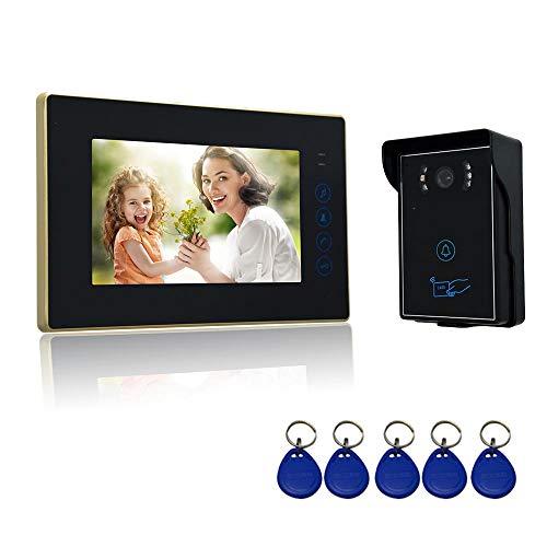 Nudito Kit Videoportero Botón Táctil Casa, Interfono