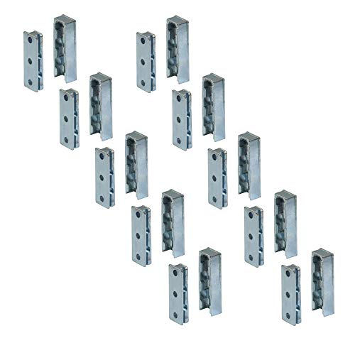 Gedotec Bett-Beschlag Schwerlast Möbelverbinder Metall SOLID Einhängebeschlag unsichtbar aus Stahl | Einhängeverbinder für Möbel & Metallbau | Tragkraft bis 250 kg | 10 Set - Schrank-Verbinder Holz