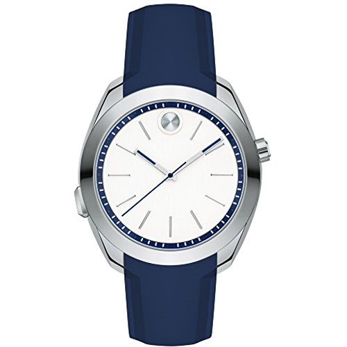MOVADO WOMEN'S 39MM BLUE SILICONE BAND STEEL CASE SWISS QUARTZ WATCH 3660011