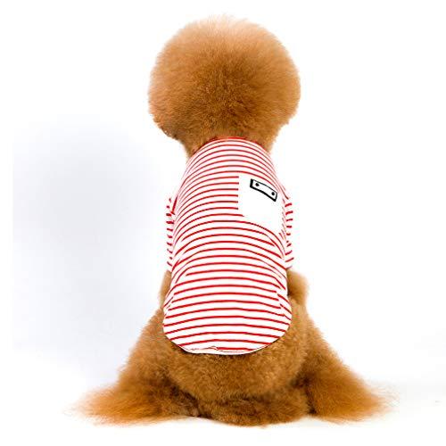 Selling PET Kleidung, Hundebekleidung Mode Explosionen, Gestreifte Plaid Zweibeinige Baumwolle, Teddy Dog Kleidung, Rot Dunkelblau,Red,XXL