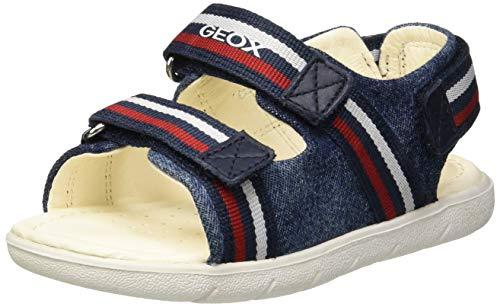 Geox B Sandal Alul Boy B, Bimbo, (Navy/Red C0735), 20 EU