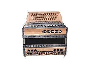 """Steirische Harmonika Alpen Modell""""Satin-Nuss"""" G C F B"""