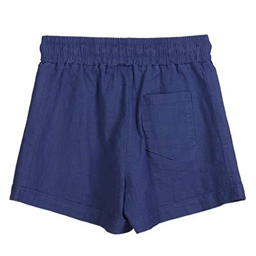 MOTOCO Damen Summer Loose Einfarbige Shorts LäSsige Elastische (Pepe Lange Strümpfe Kostüm)
