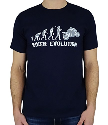 Motorbike/Superbike Moto Gp Evolution - Divertente regalo di compleanno motocicletta/uomini presenti t-shirt Blu Marino XL