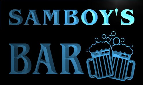 w102572-b-samboy-name-home-bar-pub-beer-mugs-cheers-neon-light-sign