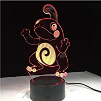 Upinfan 3D Led Light Lava Lampara Rc Toy Cartoon Frog Night Light 7 Colors Change Desk Lamp Child Kids Xmas Toy Gifts Decor Gift