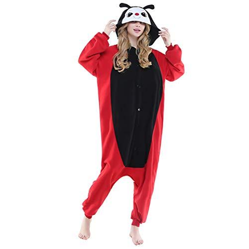 DUKUNKUN Erwachsene Pyjamas Marienkäfer Pyjamas Kostüm Schwarz Cosplay Für Tier Nachtwäsche Cartoon Halloween Festival/Urlaub / Weihnachten,L