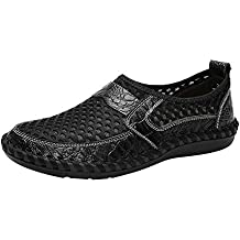 Bestow Gran tamaño de los Hombres de Malla Suave Zapatos Perezosos Guisantes Perezosos Zapatos al Aire