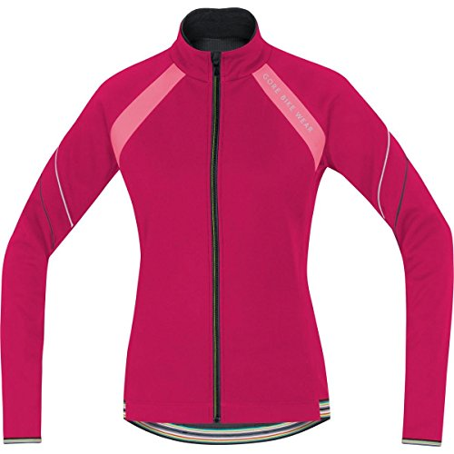 GORE BIKE WEAR Damen Warme Fleece Soft Shell Rennrad-Jacke, GORE WINDSTOPPER, POWER LADY 2.0 WS SO Jacket, Größe: 42, Pink/Rosa, JWWPOW (Power Lady Tights 2.0)