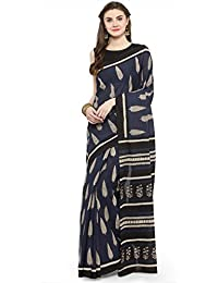 Geroo Printed Fashion Pure Cotton Saree (SABD-18390_Dark Blue)